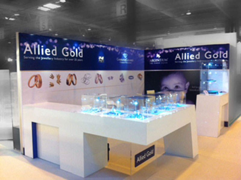 Allied Gold exhibition stand
