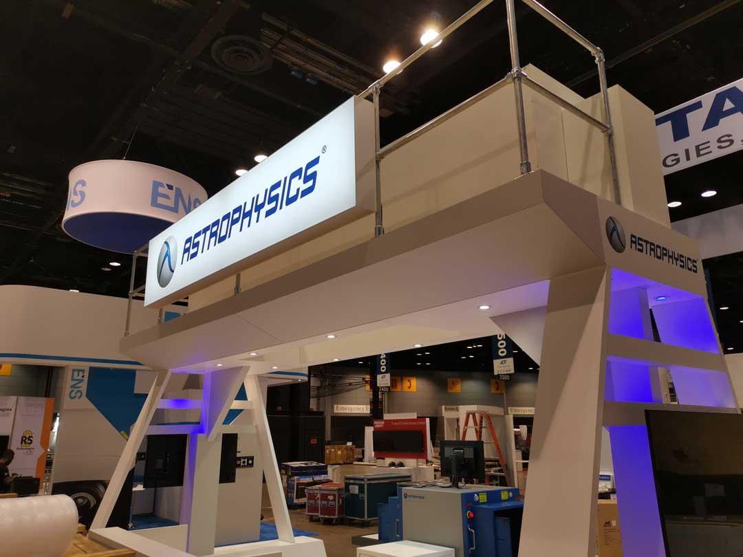 Astrophysics exhibition stand