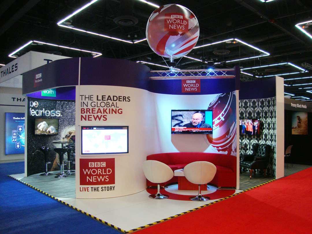 BBC World news exhibition stand