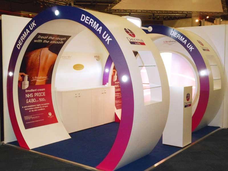 Derma UK exhibition stand
