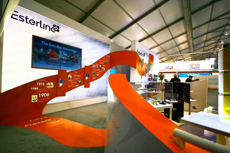 Esterline exhibition stand