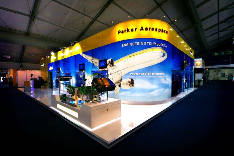 Aerospace exhibition stand design