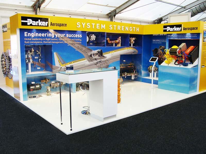Parker Aerospace exhibition stand