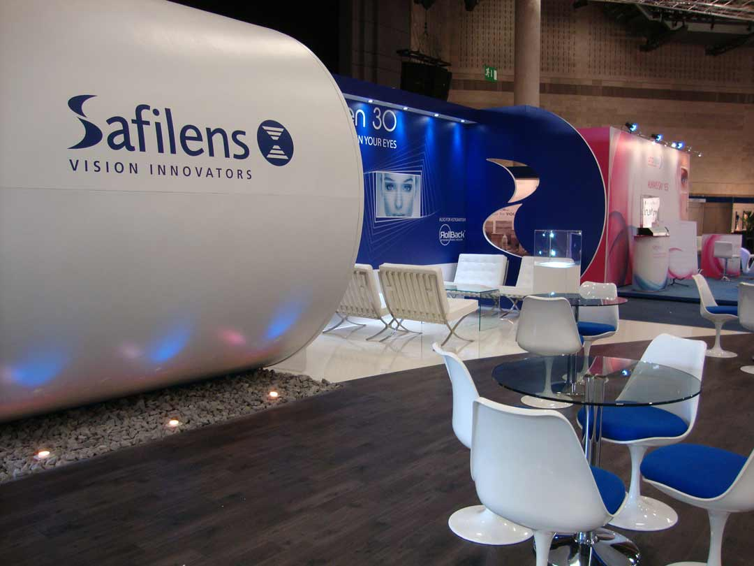 Safilens exhibition stand