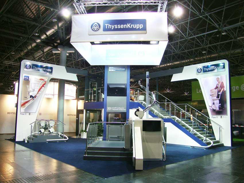ThyssenKrupp exhibition stand